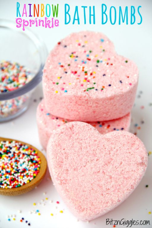 DIY Rainbow Sprinkle Bath Bombs